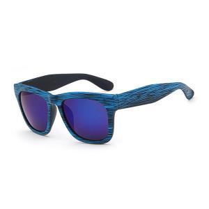Sonnenbrille aus Holz Textur mit Logo bedruckt